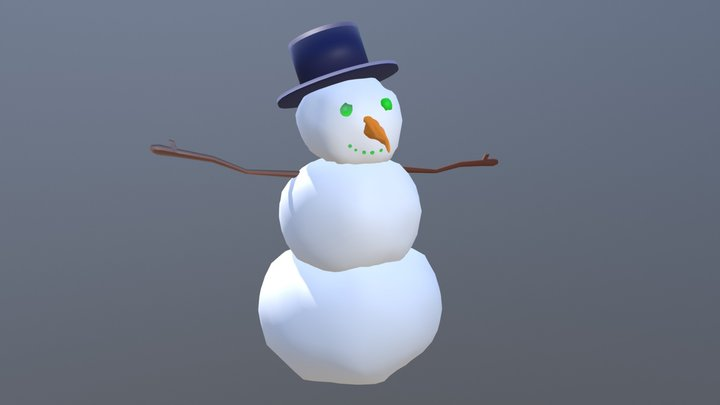 O'Laugh the Snowman 3D Model