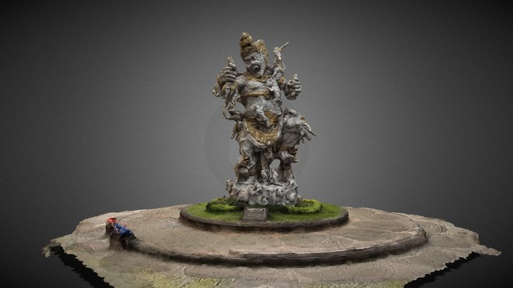 Kumbakarna Laga Statue - Bedugul Bali 3D Model