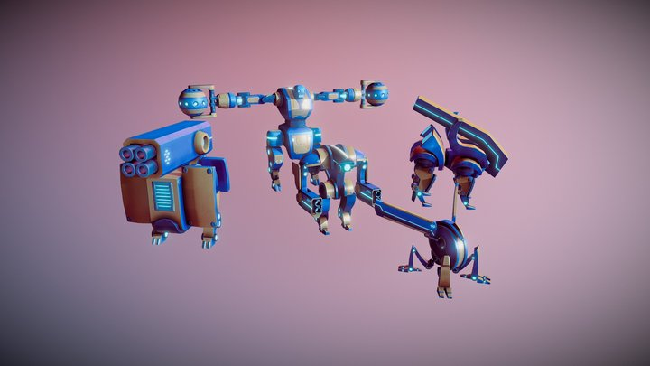 Tower Defense - Enemies - 3D models 3D Model