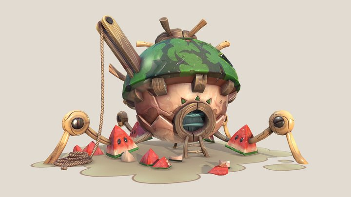 Watermelon House 3D Model