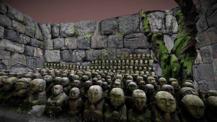 Stone statues diorama 3D Model