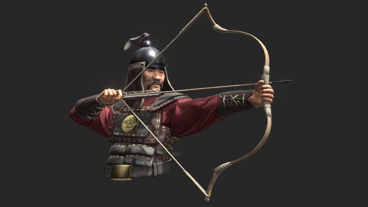 Mongolian Archer 3D Model