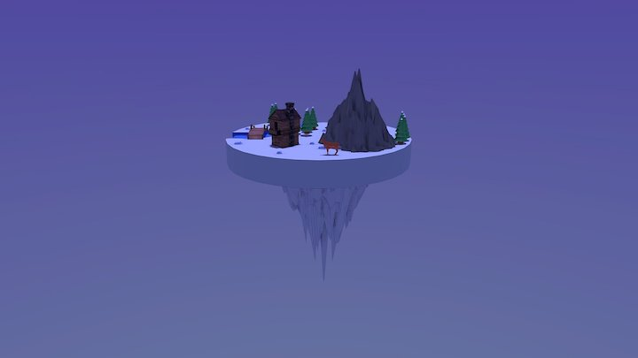 [HETIC] Snowy night 3D Model