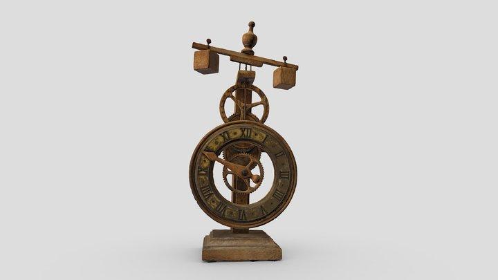 Reproducción de reloj gótico. Siglo XV 3D Model