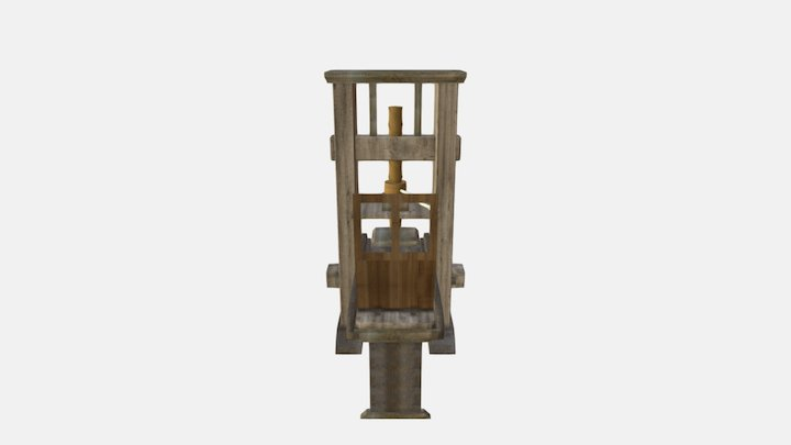 Significant People & Events - Printing Press 3D Model
