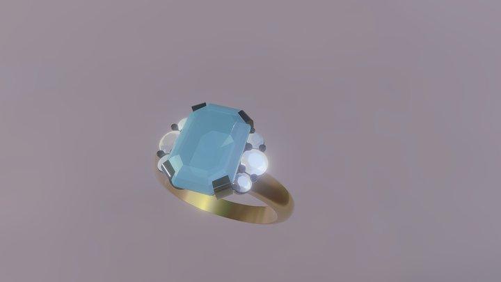Aquamarine Ring 3D Model