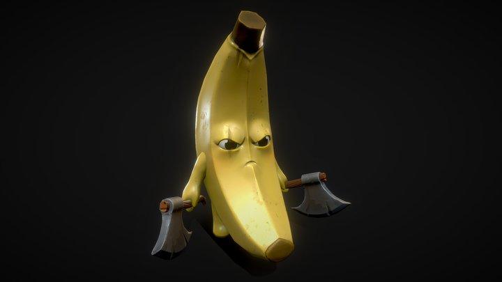 BananoSerker - Banana - With STL Files 3D Model
