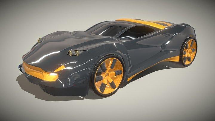 Coupeox futuristic vehicle 3D Model