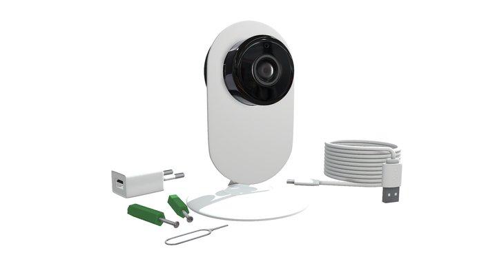 Camera WiFi Monitoring 3D Model
