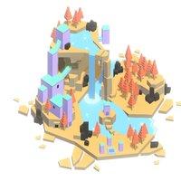 Forgotten Island 3D Model