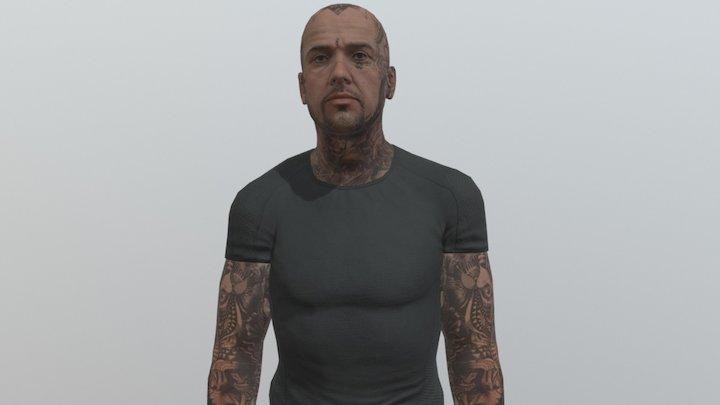 Nicos Tattoo Idle 3D Model