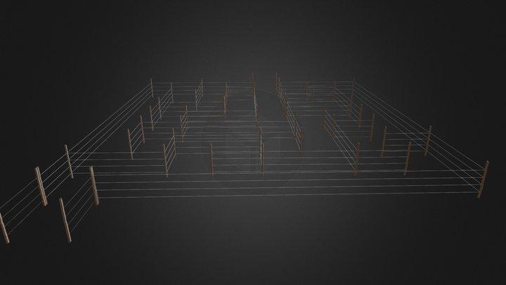Maze_Farm fence 3D Model