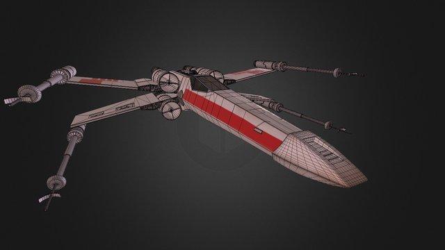 X-wing - textured 3D Model