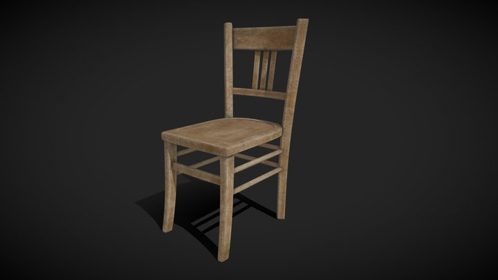 Chair (old Wooden) 3D Model
