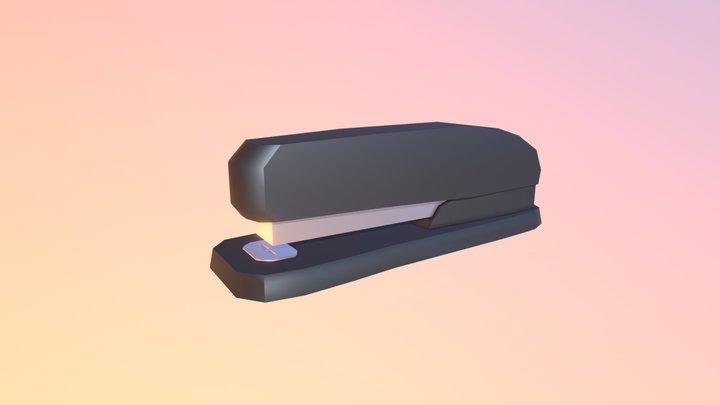Low-poly Stapler 3D Model