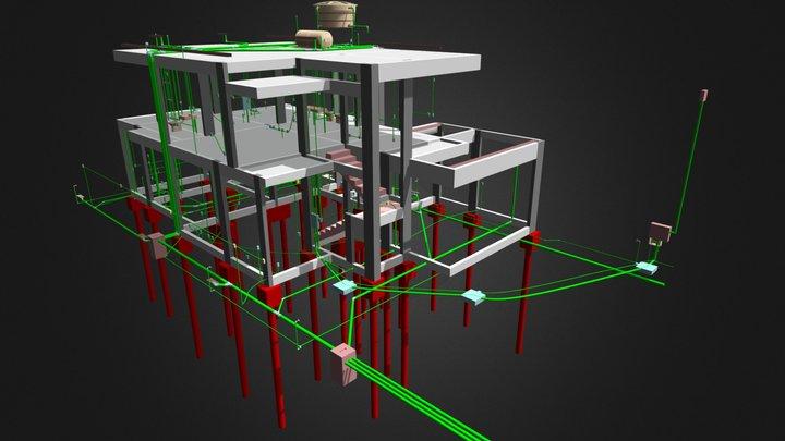 Sobrado - 210,50 m² 3D Model