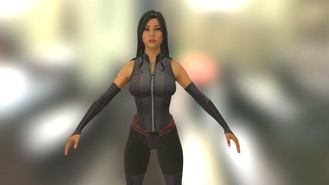 Psylocke 3D Model