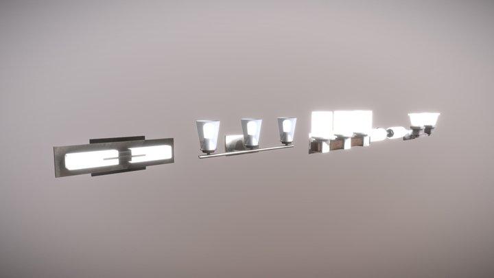 5 Modern Wall Lights 3D Model