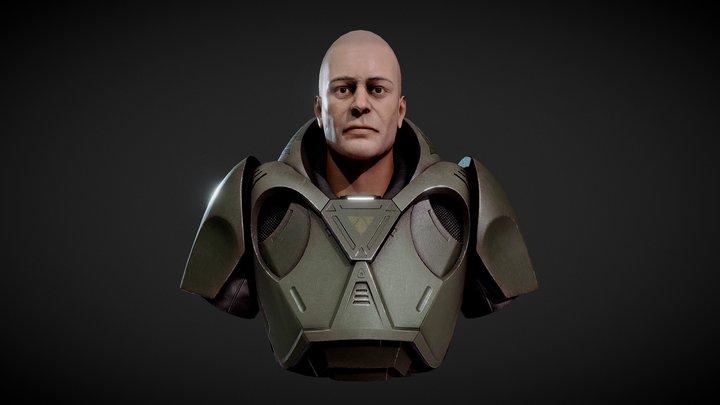 SciFi Bust 3D Model