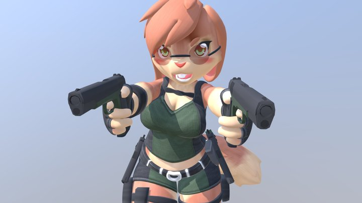 Ashley Tomb Raider Outfit 3D Model