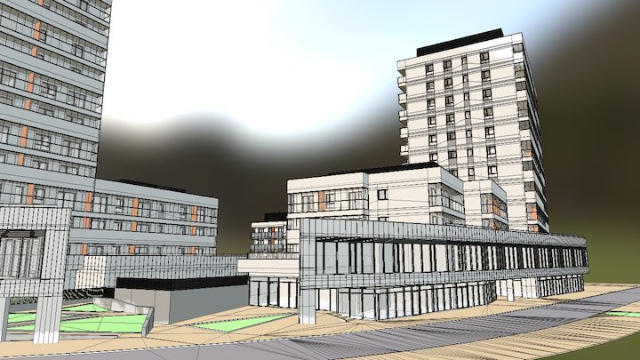 Residential housing 3D Model