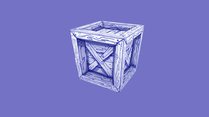 Paper-Painted Crate (proof of concept) 3D Model
