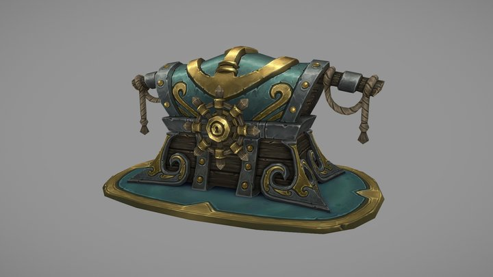 Kul Tiras Treasure Chest 3D Model
