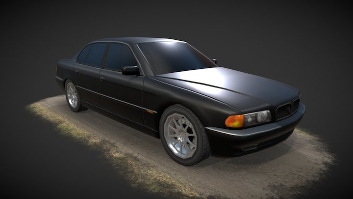 BMW E38 3D Model