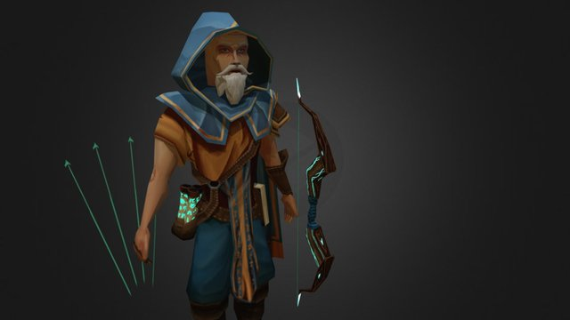 Wise old man 3D Model