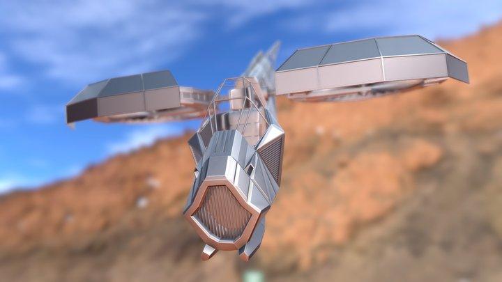 VTOL Ship with interior 3D Model