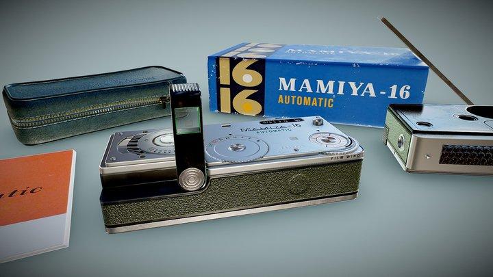 Mamiya-16 Automatic Spy Camera 3D Model