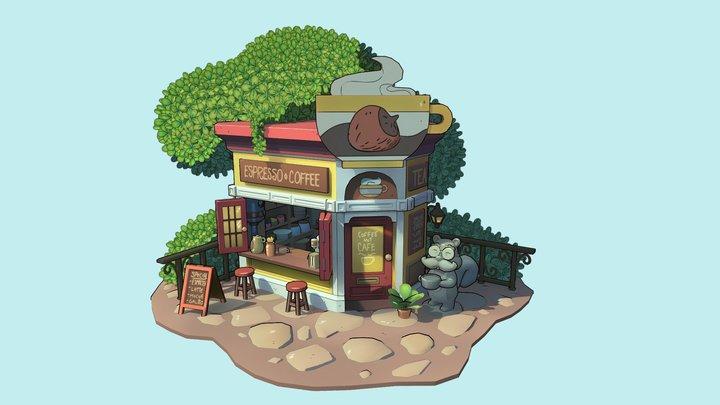 Coffee Nut Cafe 3D Model
