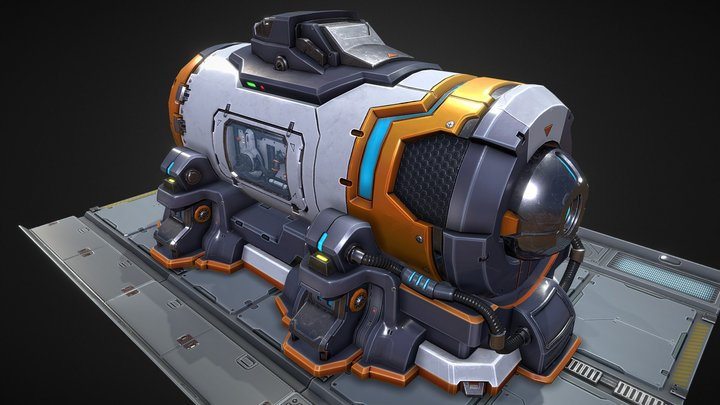 SciFi Power Generator 3D Model