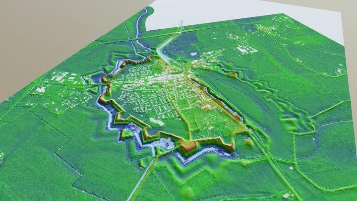 Sluis (Zeeuws-Vlaanderen) 3D Model