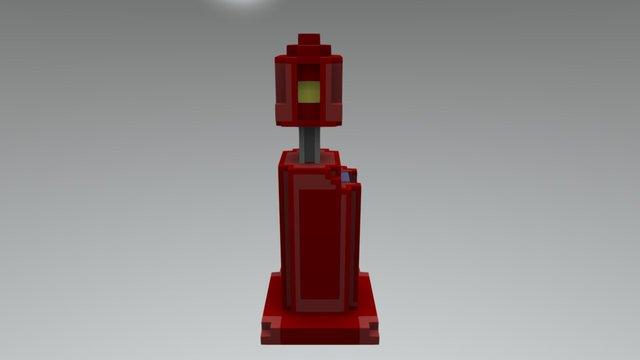 Voxel Gaspump 3D Model
