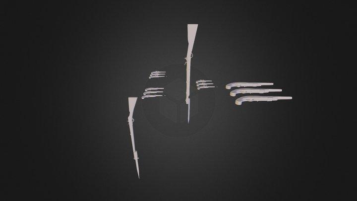 Оружие войны 1812 года 3D Model