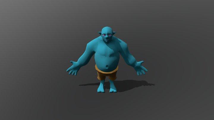 Troll Colour WIP 3D Model