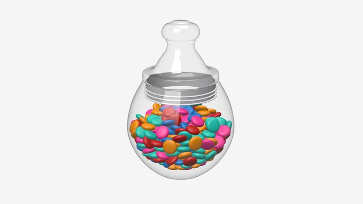 Candies in the jar 3D Model