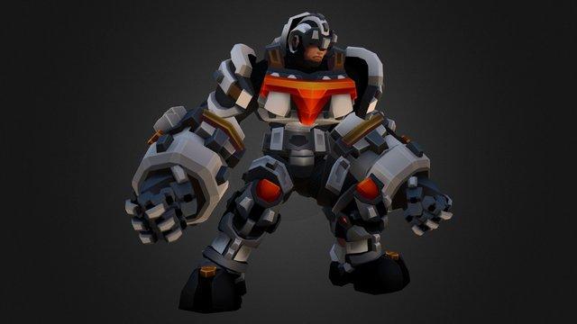 Jon - MechKnight Chronicles - idle 3D Model