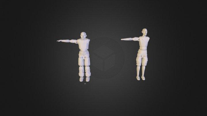 2 x Marionette_Ben crunch and Mc Engine 3D Model