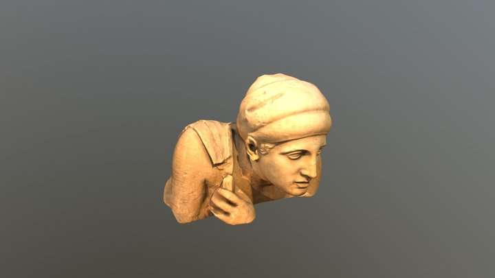 Head from Temple of Zeus at Olympia 3D Model