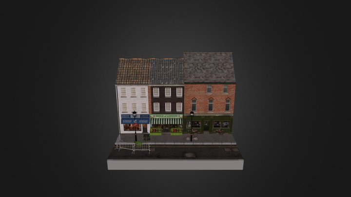 City scene (not completed) 3D Model
