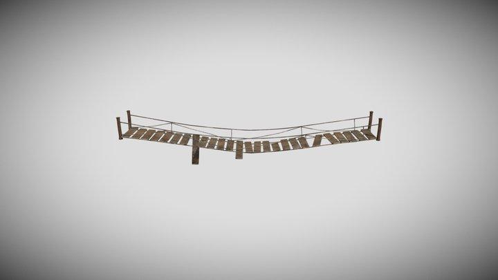 LP slightly damaged wooden bridge 3D Model