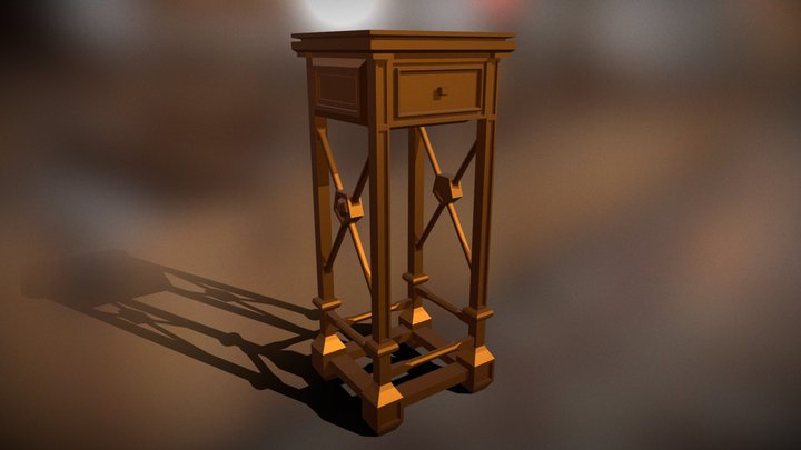 Tall Table 3D Model