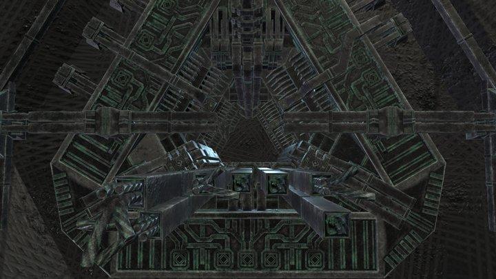 Alien Ruins Greeble 3D Model