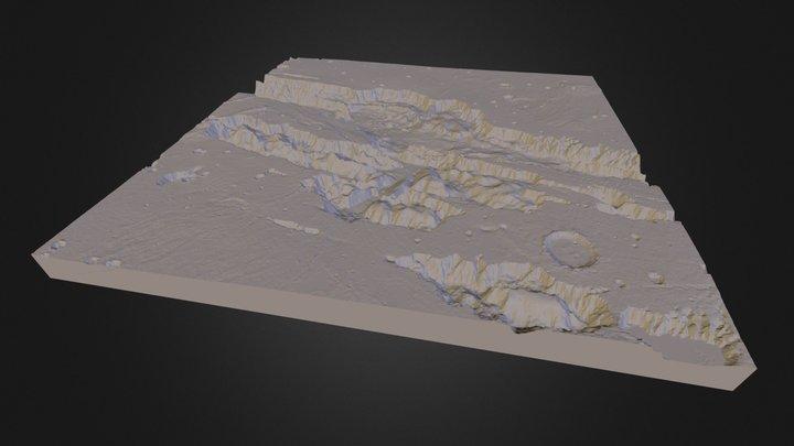 Valles Marineris (3D printable) 3D Model
