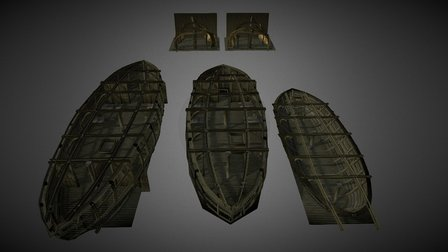 Resdayn Ship Interior Tileset 3D Model