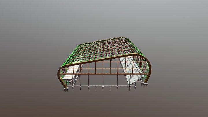 TRELIÇA GINÁSIO 3D Model