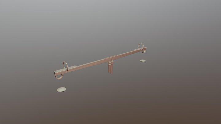 Balkenwippe Lang 3D Model