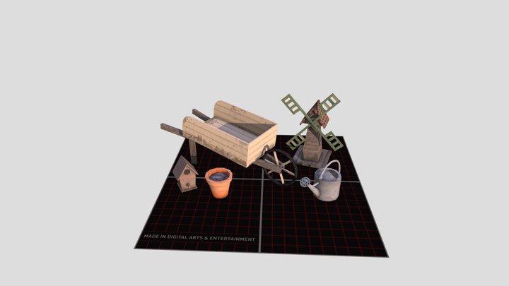 1GD08_Aloy_Gwynne_FivePropsScene 3D Model